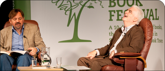 Billy interviewed by fellow Ayrshire man Rab Wilson at the wigton book festival 2008